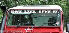Defender Windscreen ONE LIFE. LIVE IT. Decal Sticker Land Rover Camel Trophy V4