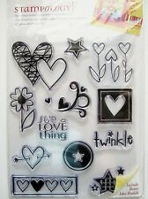 LOVE THING AL3281 Heart CLEAR ACRYLIC STAMP SET  Autumn Leaves Stamps