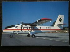 POSTCARD DE HAVILLAND DHC-6 TWIN OTTER 300 AEROPLANE HOLIDAY EXPRESS