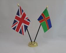 LINCOLNSHIRE & UNITED KINGDOM FRIENDSHIP TABLE FLAG