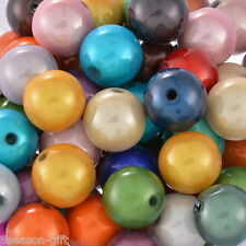 100 Mixed Miracle Acrylic Round Spacer Beads 10mm
