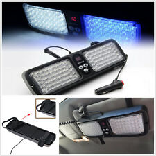 86LED BlueWhite Bright Emergency Warning Strobe Flashing Car Sun Visor SunShield