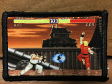Street Figther Ryu & Ken  Morale Patch  Tactical Milspec Vintage Video Game