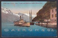 TRENTO RIVA DEL GARDA 83 STRADA DEL PONALE - BATTELLO Cartolina viaggiata 1913