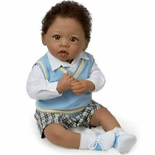Ashton Drake - ''MICHAEL, LOVE YOU/MOON BACK'' Baby Boy Doll by Linda Murray