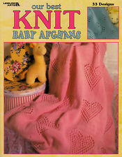 LEISURE ARTS OUR BEST KNIT BABY AFGHANS ~ KNITTING PATTERN BOOK ~ 33 DESIGNS