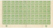 MALTA KG5 1926 HALFPENNY SG158 HALF SHEET of 60 stamps + 2 CONTROLS