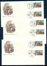 JACQUES CARTIER, JOINT ISSUE WITH FRANCE ON CANADA 1984 Scott 1011 DUAL FDC X 3