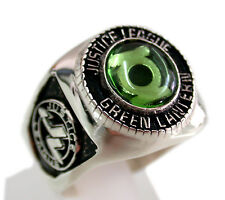 3432 SOLID STERLING SILVER .925 JUSTICE LEAGUE GREEN LANTERN RING