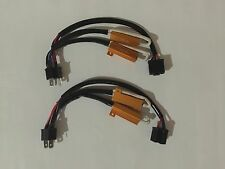 2X H4/HB2/9003 Hi/Lo LED Decoder/Load Resistor Warning Canceller, No Flickers