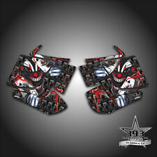 2010 - 2015 POLARIS PRO RMK - RUSH Decal Side Panel Graphics Evil Joker Red