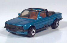 "Matchbox 1985 BMW 323i Cabriolet 3"" 1:58 Scale Model Blue Metallic Convertible"