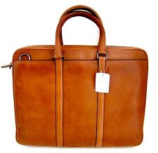 Coach tan soft leather brief case attache with shoulder strap