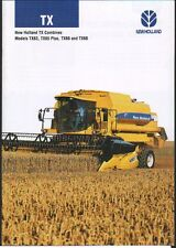 "New Holland ""TX Series"" Combine Brochure Leaflet"