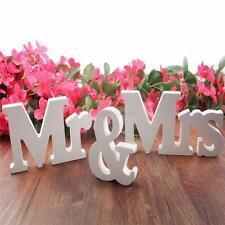 Wedding Reception Sign MR & MRS Wooden Letters White Romantic Wedding Decoration