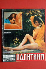 PAOLA PITAGORA ON SEXY COVER 1968 RARE EXYU MAGAZINE