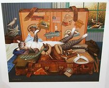 "Charles Wysocki "" Mabel The Stowaway "" CANVAS #378/500 $1500 Value Mint w/CERT"