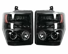 RECON Smoked Projector Headlights 264196BK 2008-2010 Ford F250 F350 F450 F550