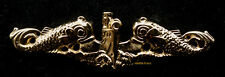 SUBMARINE DOLPHIN REGULATION OFFICER BADGE GOLD US NAVY PIN UP SUB VETERAN GIFT