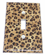 Cheetah, Leopard Print Single, Light Switch Cover Kitchen Bathroom Wall Decor