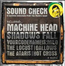 1 cardboard sleeve cd sound check no.95 machine head hot cross locust gallows