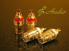 4 pcs Professional Gold Plated Short Thread Binding Post for Speaker & Amplifier