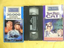 3 Disney VHS movies: 20000 Leagues Under the Sea, The Parent Trap, That Darn Cat