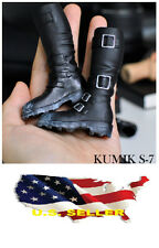 1/6 kumik shoes Black Widow Catwoman women's horse riding boots ❶❶US seller❶❶