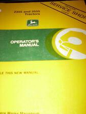 John Deere 2355, 2555 Tractors Operator's Manual 1986