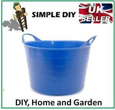 Garden Bucket Flexible Rubber Storage Container Water Carrier Garden Waste Tub