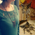Vintage Women Jewelry Key Bronze Long Necklace Retro Chain Pendant Fashion Gift
