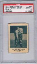 1952 Laval Dairy QHL Update Hockey Card Valleyfield Bingo Ernst Graded PSA 2.5
