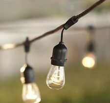 Vintage Outdoor Garden Weatherproof String Lights 48 Feet S14 Bulbs Edison Light