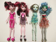 Monster High Lot: Dead Tired Draculaura Skull Shores Ghoulia Yelps Frankie Stein