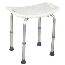 Adjustable 6 Height Medical Bath Tub Shower Chair Bench Stool Seat Without Back