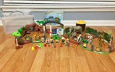 PLAYMOBIL Large Zoo Playset 4850 VHTF Giraffe Zebra Lion (Almost Complete)