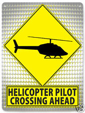 HELICOPTER Metal street sign RC model MANCAVE funny boys wall decor art 131