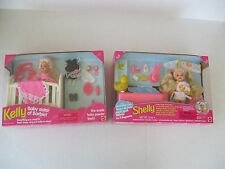 Bath Time Shelly Doll & Kelly Doll Baby Sister of Barbie 1990's Lot of 2