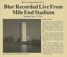 Original 1995 4 Track CD 2 BLUR Country House EP Live From Mile End Stadium MINT