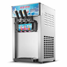 3 Flavor Commercial Frozen Ice Cream Cones Machine Soft Ice Cream Machine 220V