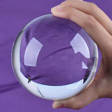 LS Clear Quartz Crystal Ball 100mm Sphere ORB Photo Props Free Stand Box Pack