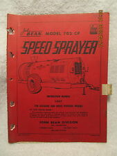 1964 John Bean Model 705 CP Speed Sprayer Instruction Manual for Gas & Diesel