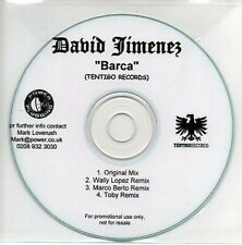 (AB484) David Jimenez, Barca - DJ CD