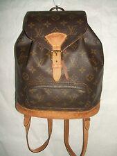 100%Authentic Louis Vuitton  Montsouris MM Backpack Shoulder Bag #12446
