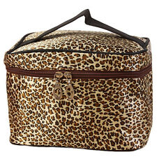 Leopard Print Cosmetic Bags Women Travel Makeup Bag Make Up Bags Brown NICE
