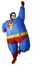 Halloween Airblown Inflatable Fat Superman Costumes Superhero Funny dress Adult