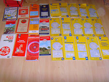 23 Rare Vintage Old Michelin Road Maps France, Spain, Denmark and other