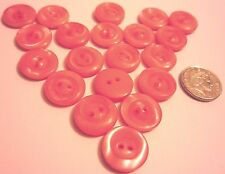 buttons vintage salmon pink man made 15 mm art deco eccentric ring twenty