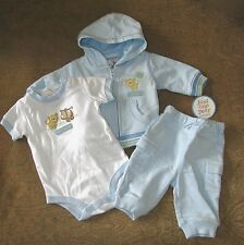 JUST ONE YEAR 3pc Set  Hoodie Bodysuit & Pants  Newborn (5-8lbs)  NWT