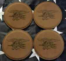 Naval Special Warfare Dev Group Seal Team 6 ST6 Trident Brown Leather Coasters